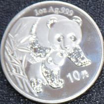 Cumpleaños 2004 Pandas Hermosas De China Plata 999 Troya Jdx