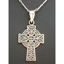 Dije Amuleto Cruz Celta Para Tu Proteccion En Plata Fina.925