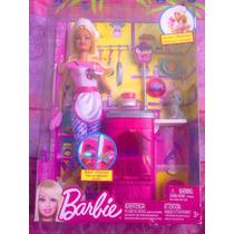 Barbie Cosinera Con Mascota Y Accesorios