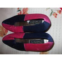 Zapatos Tacón Casuales, Nuevos, Bicolor Azul-rosa, Mujer,