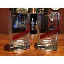 Par De Vasos De Cristal Para Whisky Originales Johnny Walker