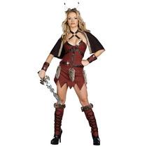 Disfraz De Vikinga, Guerrera, Gladiadora Para Damas