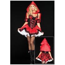 Disfraz De Lujo De Caperucita Roja Para Damas, Envio Gratis