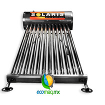 Calentador Solar Solaris 8 Tubos Acero Inoxidab Envio Gratis
