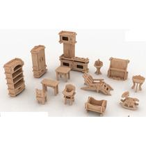Muebles Para Casa De Muñecas Mdf Kit De Muebles Miniatura