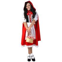Disfraz De Caperucita Roja Para Damas Plus, Envio Gratis