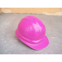 Casco Obra Construccion Rosa