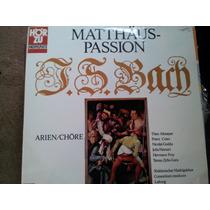 Disco Acetato De Matthaus Passion Bach Arien Chore