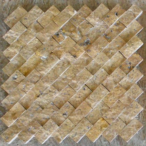 Loseta marmol travertino acabado rustico ideal p fachadas for Precio marmol travertino para exterior
