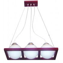 Lámpara Para Techo - Colección Wood 3 Luces - Foco Ahorrador