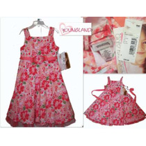 Vestido Nina Hermoso Rosa Coral Tallas 4 O 5 Nuevo Americano