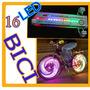 Novedad Luz Rueda Bicicleta Tuning 16 Led Efectos Luz Hm4