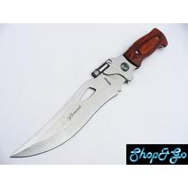 Cuchillo De Monte M8028 Full Tang Con Funda Y Lampara De Led