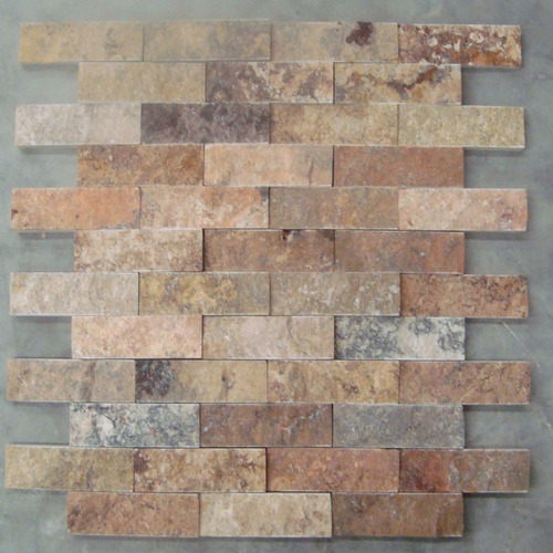 Loseta marmol travertino acabado rustico ideal p fachadas for Disenos de pisos de loseta