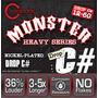 Cleartone Monster Heavy Cuerdas Drop C# 12-60 Vv4 Guitarra