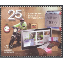 2011 25 Aniversario Servicio Postal Mexicano Sello Nuevo