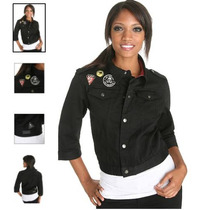 Hot Topic Chamarra Lip Service Military Patch Jacket Grande