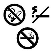 Set De 3 Stickers Vinil Autoadherible No Fumar Rótulos