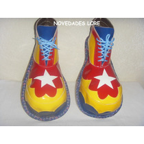 Zapatos Para Payaso Adulto Unitalla P/ Disfraces Payasito