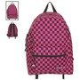Hot Topic Mochila Yak Pak Black And Pink Checkered Backpack