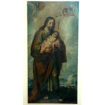 San Jose Y Niño Jesus Pintura Oleo Colonial Mexicana