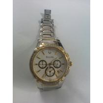 Reloj Bulova Con Diamantes Excelentes Condiciones 100% Orig.