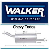 Mofle Silenciador Chevy Triangular Carro Walker