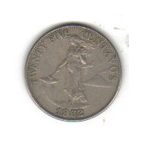 25 Centavos 1962 Moneda De Filipinas - Maa