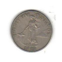 25 Centavos 1962 Moneda De Filipinas - Vbf