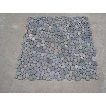 Piso De Piedra Gris En Malla