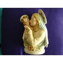 Virgen (madonna Con Niño) De Porcelana