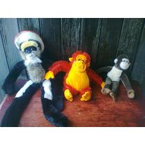Lote De Peluches 01 Simios,orangutan,changos