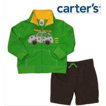 Conjunto 2 Pz Carters Nino Bebe 6 Meses Sudadera Pants Ve!!!