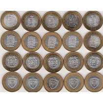 Monedas Bimetalicas De Los Estados 100 Pesos !!