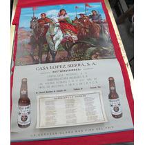 Antiguo Calendario De 1966 Cerveza Modelo En Tehuacan,pue.