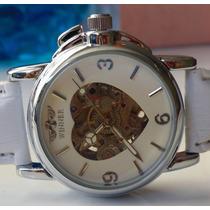 Elegantisimo Reloj Skeleton Automatico Mujer 100% Original