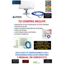 Antena Wifi 5800mw 58dbi Signalking Sk-10tn Auditorias Srt