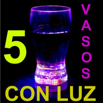5 Vasos Con Luz Para Fiesta, Eventos, Animación, Luminosos