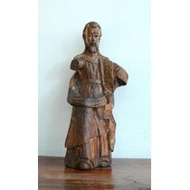 Dios Padre Antiguo Talla En Madera Sxvii
