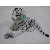 Tigre De Bengala Blanco De 60cms De Largo