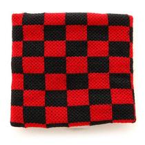 Hot Topic Muñequera Black And Red Checker Wristband Pulsera