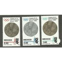 Mexico Estampillas Olimpiadas Moscu 1980.