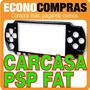 Carcasa Para Psp Fat Botones/ Tornillos 2 Colores 100% Nuevo