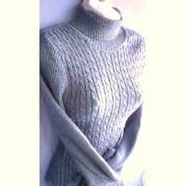 Blusa Sweter Cuello Tortuga Tejido Punto Moda Actual