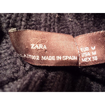 Sweter Zara Negro Talla M Cuello Tortuga