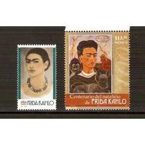 Frida Kahlo 2001 Y 2007 Dos Sellos Mnh. Mèxico