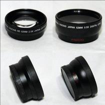 Kit De Lentes .45x Y 2.2x Macro Y Tele Para Nikon Canon 52mm