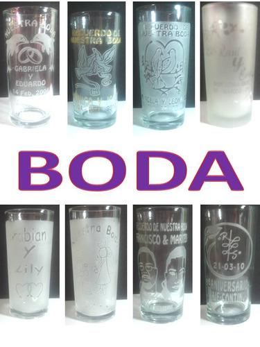 230dbe294e80 Vasos Grabados Para Boda.(tecnica Sandblast) en venta en Tizayuca ...