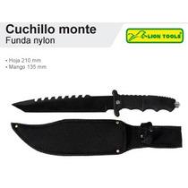 Cuchillo Monte Funda Nylon Mango Rubber Marca Lion Tools