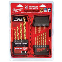 Set De 20 Brocas De Titanio Milwaukee 48-89-1105